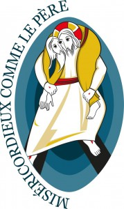 French version of the official logo of the Year of Mercy from the Jubilee's website www.im.va. Free to use.